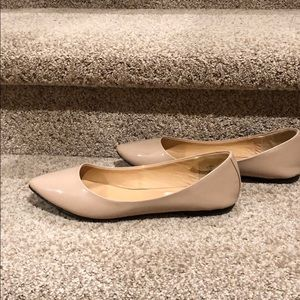 Steve Madden nude patent leather pointed toe flats